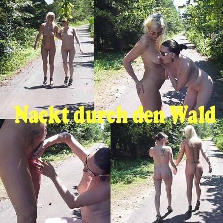 Freundin Kitzler Wald Fisten